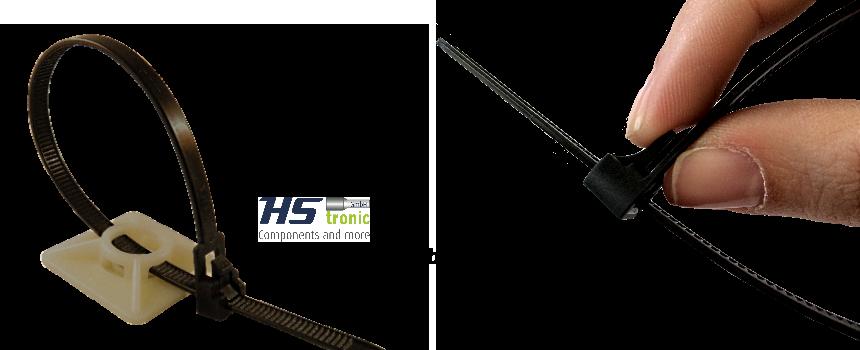 Wiederlösbarer Kabelbinder mit spezieller Öff